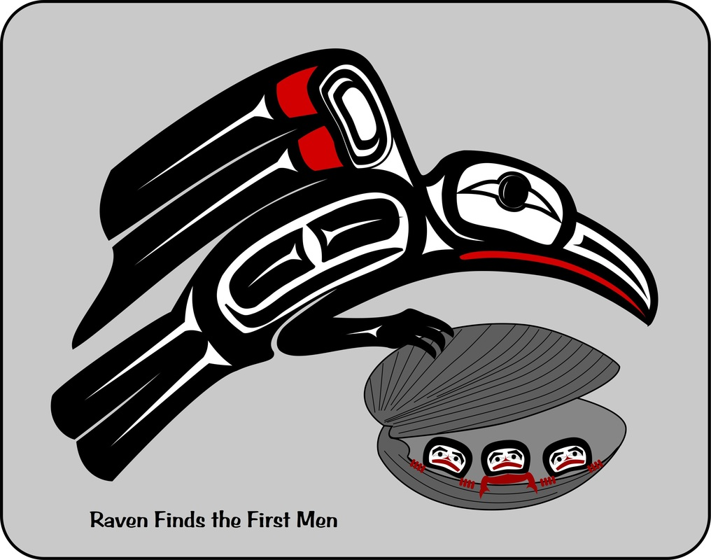 Raven - Haida Point Art Celestial Sun And Moon Pictures