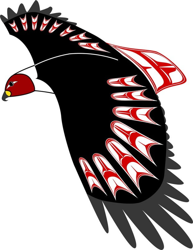 Hawk Haida Point Art